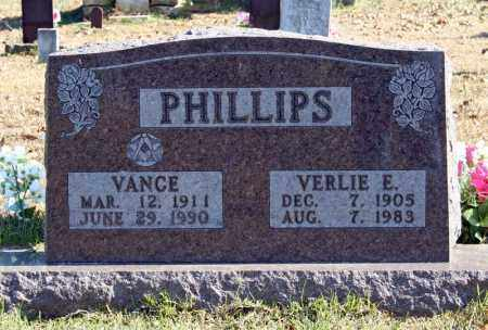 PHILLIPS, VERLIE E. - Searcy County, Arkansas | VERLIE E. PHILLIPS - Arkansas Gravestone Photos