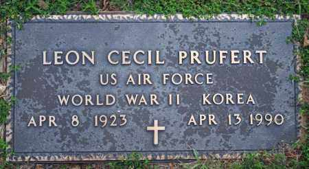 PRUFERT  (VETERAN 2 WARS), LEON CECIL - Searcy County, Arkansas | LEON CECIL PRUFERT  (VETERAN 2 WARS) - Arkansas Gravestone Photos