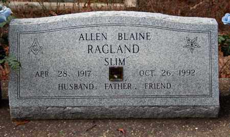 RAGLAND, ALLEN BLAINE - Searcy County, Arkansas | ALLEN BLAINE RAGLAND - Arkansas Gravestone Photos