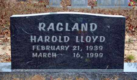 RAGLAND, HAROLD LLOYD - Searcy County, Arkansas | HAROLD LLOYD RAGLAND - Arkansas Gravestone Photos