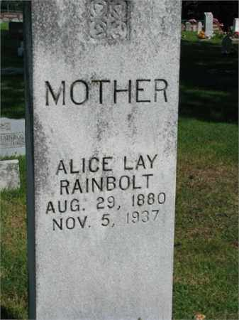 RAINBOLT, ALICE LAY - Searcy County, Arkansas | ALICE LAY RAINBOLT - Arkansas Gravestone Photos