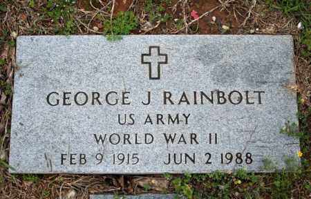 RAINBOLT (VETERAN WWII), GEORGE J - Searcy County, Arkansas | GEORGE J RAINBOLT (VETERAN WWII) - Arkansas Gravestone Photos