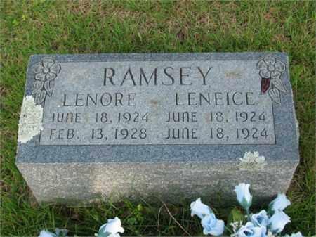RAMSEY, LENORE - Searcy County, Arkansas | LENORE RAMSEY - Arkansas Gravestone Photos