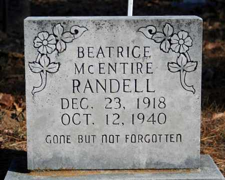 MCENTIRE RANDELL, BEATRICE - Searcy County, Arkansas | BEATRICE MCENTIRE RANDELL - Arkansas Gravestone Photos