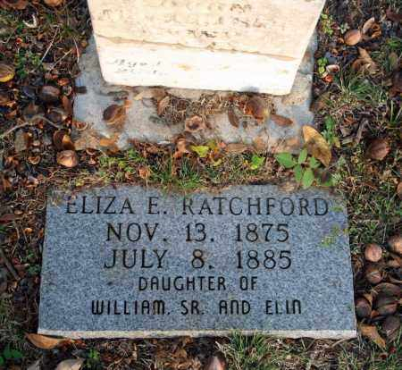 RATCHFORD, ELIZA E. 2 - Searcy County, Arkansas | ELIZA E. 2 RATCHFORD - Arkansas Gravestone Photos
