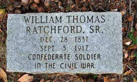 RATCHFORD, SR.  (VETERAN CSA), WILLIAM THOMAS - Searcy County, Arkansas | WILLIAM THOMAS RATCHFORD, SR.  (VETERAN CSA) - Arkansas Gravestone Photos