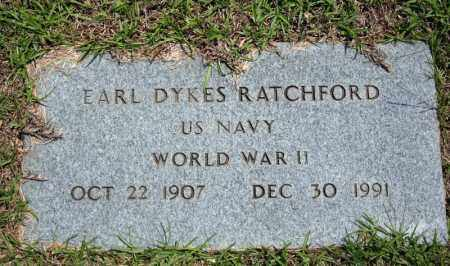 RATCHFORD (VETERAN WWII), EARL DYKES - Searcy County, Arkansas | EARL DYKES RATCHFORD (VETERAN WWII) - Arkansas Gravestone Photos