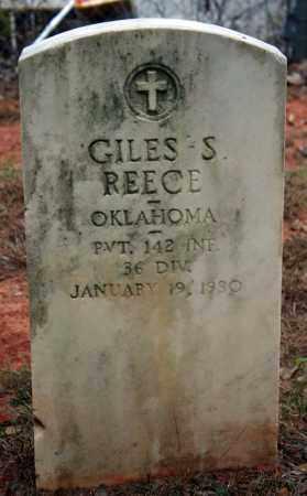 REECE (VETERAN), GILES S - Searcy County, Arkansas   GILES S REECE (VETERAN) - Arkansas Gravestone Photos