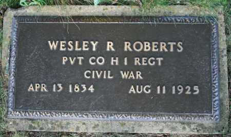 ROBERTS  (VETERAN UNION), WESLEY R. - Searcy County, Arkansas | WESLEY R. ROBERTS  (VETERAN UNION) - Arkansas Gravestone Photos