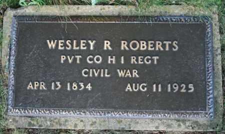 ROBERTS  (VETERAN UNION), WESLEY R. - Searcy County, Arkansas   WESLEY R. ROBERTS  (VETERAN UNION) - Arkansas Gravestone Photos