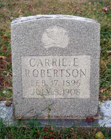 ROBERTSON, CARRIE E. - Searcy County, Arkansas | CARRIE E. ROBERTSON - Arkansas Gravestone Photos