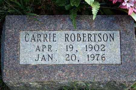 ROBERTSON, CARRIE - Searcy County, Arkansas | CARRIE ROBERTSON - Arkansas Gravestone Photos