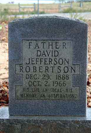 ROBERTSON, DAVID JEFFERSON - Searcy County, Arkansas | DAVID JEFFERSON ROBERTSON - Arkansas Gravestone Photos
