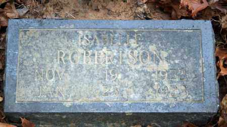 ROBERTSON, ISABELLE - Searcy County, Arkansas | ISABELLE ROBERTSON - Arkansas Gravestone Photos