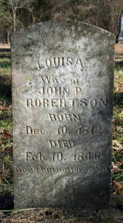 ROBERTSON, LOUISA - Searcy County, Arkansas | LOUISA ROBERTSON - Arkansas Gravestone Photos