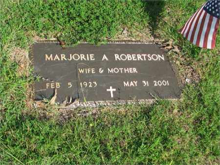 ROBERTSON, MARJORIE A. - Searcy County, Arkansas | MARJORIE A. ROBERTSON - Arkansas Gravestone Photos