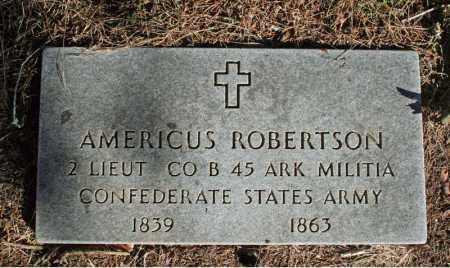 ROBERTSON (VETERAN CSA), AMERICUS - Searcy County, Arkansas | AMERICUS ROBERTSON (VETERAN CSA) - Arkansas Gravestone Photos