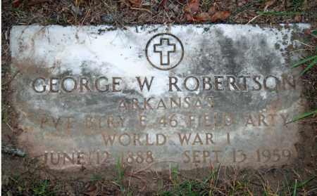 ROBERTSON (VETERAN WWI), GEORGE W - Searcy County, Arkansas | GEORGE W ROBERTSON (VETERAN WWI) - Arkansas Gravestone Photos