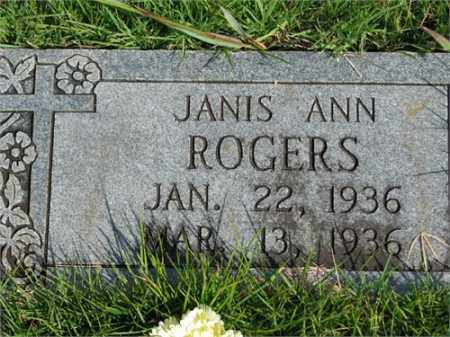 ROGERS, JANIS ANN - Searcy County, Arkansas | JANIS ANN ROGERS - Arkansas Gravestone Photos