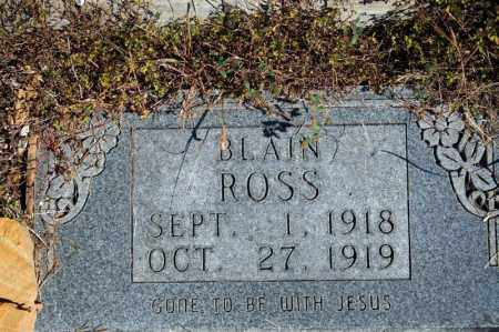 ROSS, BLAIN - Searcy County, Arkansas | BLAIN ROSS - Arkansas Gravestone Photos