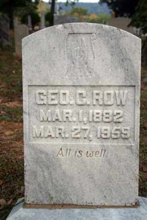 ROW, GEO. C. - Searcy County, Arkansas | GEO. C. ROW - Arkansas Gravestone Photos