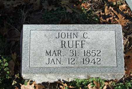 RUFF, JOHN C. - Searcy County, Arkansas | JOHN C. RUFF - Arkansas Gravestone Photos