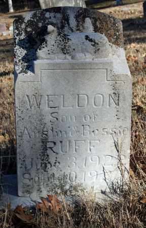 RUFF, WELDON - Searcy County, Arkansas | WELDON RUFF - Arkansas Gravestone Photos