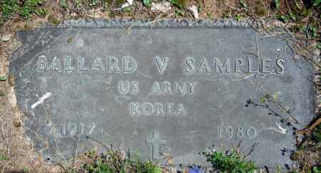 SAMPLES (VETERAN KOR), BALLARD V - Searcy County, Arkansas | BALLARD V SAMPLES (VETERAN KOR) - Arkansas Gravestone Photos