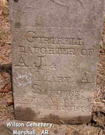 SANDERS, GIRTRELL - Searcy County, Arkansas   GIRTRELL SANDERS - Arkansas Gravestone Photos