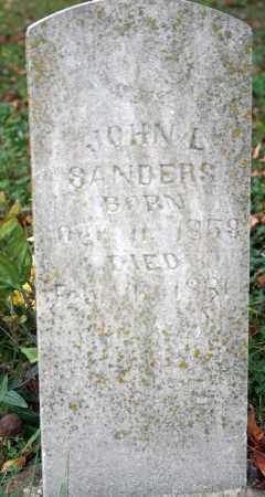 SANDERS, JOHN L. - Searcy County, Arkansas | JOHN L. SANDERS - Arkansas Gravestone Photos