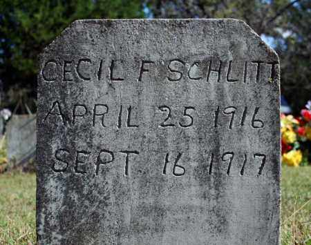 SCHLITT, CECIL F. - Searcy County, Arkansas | CECIL F. SCHLITT - Arkansas Gravestone Photos