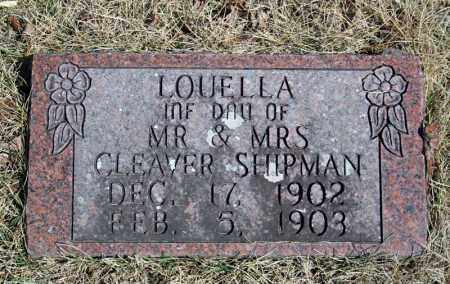SHIPMAN, LOUELLA - Searcy County, Arkansas | LOUELLA SHIPMAN - Arkansas Gravestone Photos