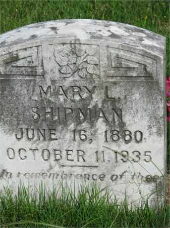 SHIPMAN, MARY L. - Searcy County, Arkansas | MARY L. SHIPMAN - Arkansas Gravestone Photos