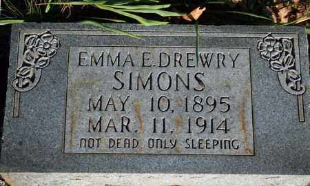 SIMONS, EMMA EMELINE - Searcy County, Arkansas | EMMA EMELINE SIMONS - Arkansas Gravestone Photos