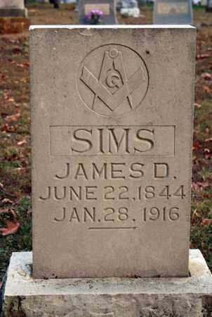 SIMS, JAMES D. - Searcy County, Arkansas | JAMES D. SIMS - Arkansas Gravestone Photos