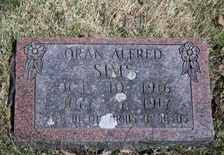 SIMS, ORAN ALFRED - Searcy County, Arkansas | ORAN ALFRED SIMS - Arkansas Gravestone Photos