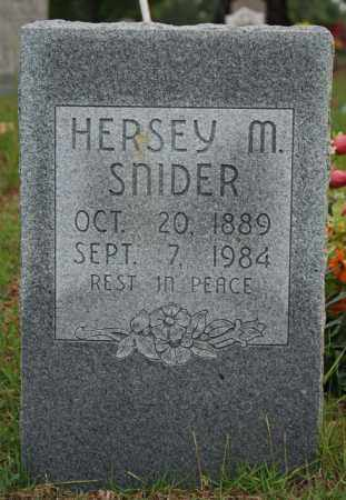 SNIDER, HERSEY M. (SARRATT) - Searcy County, Arkansas | HERSEY M. (SARRATT) SNIDER - Arkansas Gravestone Photos