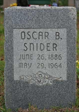 SNIDER, OSCAR B. - Searcy County, Arkansas | OSCAR B. SNIDER - Arkansas Gravestone Photos