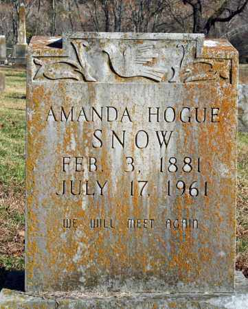 HOGUE SNOW, AMANDA - Searcy County, Arkansas | AMANDA HOGUE SNOW - Arkansas Gravestone Photos
