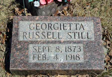 RUSSELL STILL, GEORGIETTA - Searcy County, Arkansas | GEORGIETTA RUSSELL STILL - Arkansas Gravestone Photos