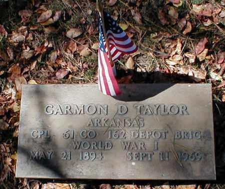 TAYLOR  (VETERAN WWI), CARMON D. - Searcy County, Arkansas | CARMON D. TAYLOR  (VETERAN WWI) - Arkansas Gravestone Photos