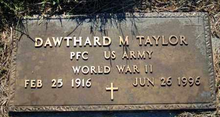 TAYLOR  (VETERAN WWII), DAWTHARD M - Searcy County, Arkansas | DAWTHARD M TAYLOR  (VETERAN WWII) - Arkansas Gravestone Photos