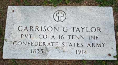TAYLOR  (VETERAN CSA), GARRISON GREENWOOD - Searcy County, Arkansas | GARRISON GREENWOOD TAYLOR  (VETERAN CSA) - Arkansas Gravestone Photos