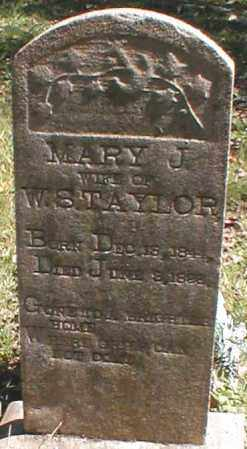 TAYLOR, MARY J. - Searcy County, Arkansas | MARY J. TAYLOR - Arkansas Gravestone Photos