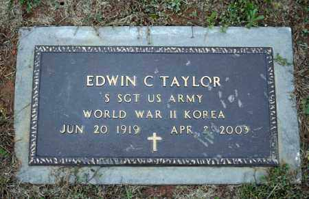 TAYLOR (VETERAN 2 WARS), EDWIN C - Searcy County, Arkansas | EDWIN C TAYLOR (VETERAN 2 WARS) - Arkansas Gravestone Photos