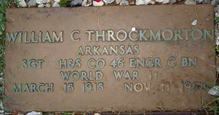 THROCKMORTON  (VETERAN WWII), WILLIAM C - Searcy County, Arkansas | WILLIAM C THROCKMORTON  (VETERAN WWII) - Arkansas Gravestone Photos
