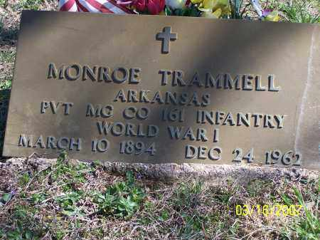 TRAMMELL (VETERAN WWI), MONROE - Searcy County, Arkansas | MONROE TRAMMELL (VETERAN WWI) - Arkansas Gravestone Photos