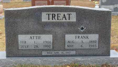 LAWRENCE TREAT, ATTIE - Searcy County, Arkansas | ATTIE LAWRENCE TREAT - Arkansas Gravestone Photos