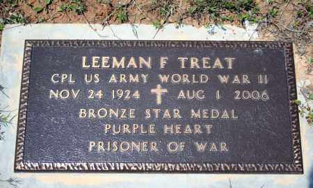 TREAT (VETERAN WWII), LEEMAN F - Searcy County, Arkansas | LEEMAN F TREAT (VETERAN WWII) - Arkansas Gravestone Photos