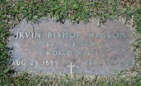 WASSON (VETERAN WWI), IRVIN BISHOP - Searcy County, Arkansas | IRVIN BISHOP WASSON (VETERAN WWI) - Arkansas Gravestone Photos